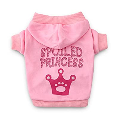 DroolingDog Dog Princess Shirts Pet Dog Clothes Dog Hoodie for Small Dogs by Best Quality