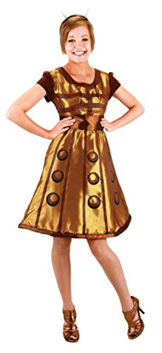 Dalek Adults Costume (Elope Womens Doctor Who Dalek Dress Theme Party Fancy Halloween Cute Costume, S/M)