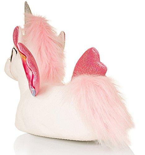 para animal Pantuflas Pink mujer Unicorn en White 3D 3d diseño de dRqRC1x