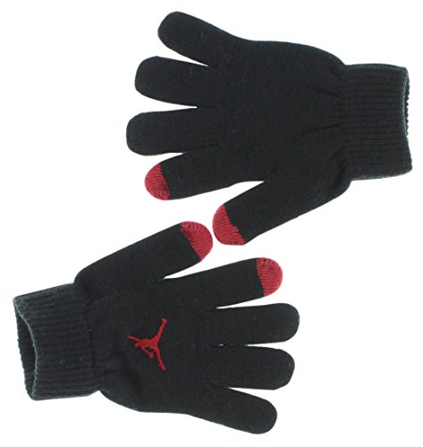 Nike Youth Kids' Jordan Tech Gloves Black/Red size: 8/20