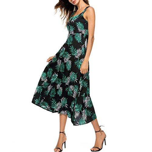 ee64f7a54076ee VEMOW Sommer Elegante Damen Frauen Striped Lange Boho Kleid Dame Strand  Sommerkleid Casual Täglichen Party Strand ...