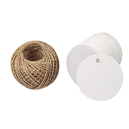 amazon com kraft paper round gift tags white gift wrap tags with