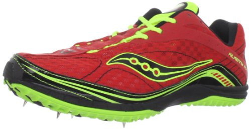 Saucony Men's Kilkenny XC4 Spike Running Shoe,Red/Citron/Black,13 M US