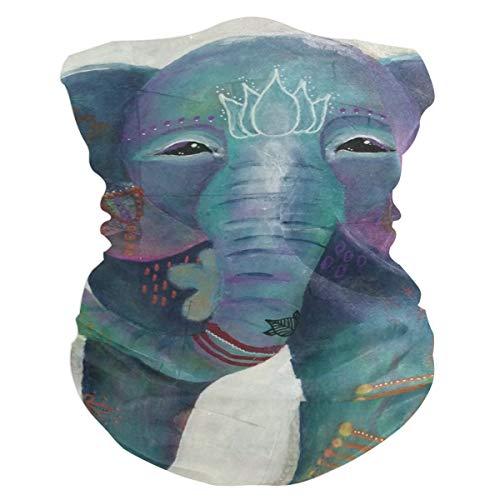 Boho Whimsical Elephant Outdoor Magic Headband Multifunctional Elastic Seamless Bandana Scarf UV Resistence Sport ()