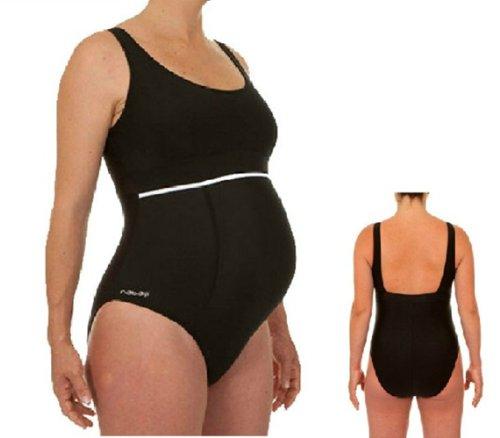 DECATHLON Pregnant Women One-Piece Swimsuit 8047800 (BLACK, 46)