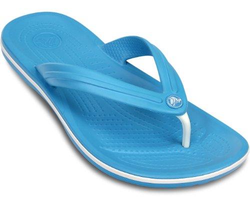 Crocs Crocband Flip U, sacrocs Crocband Flip U, Sandales, unisexe–Adulte - Multicolore - Multicolore (Electric Blue/White), 45.5 EU