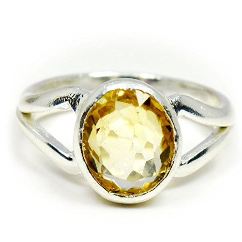 55Carat Natural Citrine Silver Ring For Men 6 Carat Oval Shape Astrological Size 5,6,7,8,9,10,11,12,13 Oval Citrine Bezel