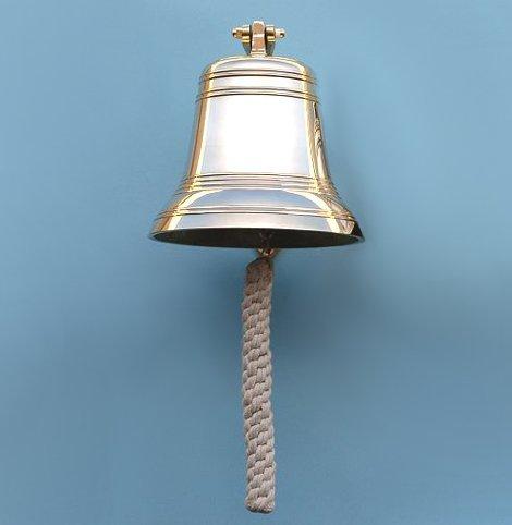 Fifteen Inch Diameter Brass Ship's Bell by Stanley London