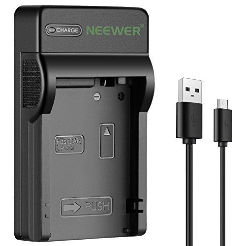 Neewer Micro USB Cargador de Batería para Canon LP-E8, Canon Rebel T2i, T3i, T4i ,T5i, EOS 550D, 600D, 650D, 700D, Kiss X4,...