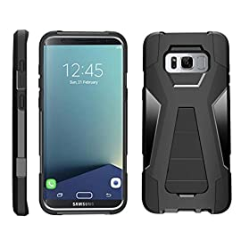 TurtleArmor   Compatible for Samsung Galaxy S8+ Case   S8 Plus Case   G955 [Dynamic Shell] Hybrid Dual Layer Hard Shell Kickstand Silicone Case - 8 Dual Layer Protection - Soft inner silicone skin and hard outer PC plastic for the ultimate protection Kickstand - Built-in stand allows for hands-free media viewing in landscape or portrait mode Hundreds of Designs to Choose From - Offers a variety of unique, cool, and custom designs.