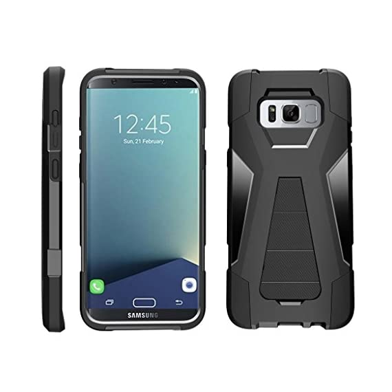 Turtlearmor | compatible for samsung galaxy s8+ case | s8 plus case | g955 [dynamic shell] hybrid dual layer hard shell… 1 dual layer protection - soft inner silicone skin and hard outer pc plastic for the ultimate protection kickstand - built-in stand allows for hands-free media viewing in landscape or portrait mode hundreds of designs to choose from - offers a variety of unique, cool, and custom designs.