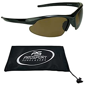 Polarized Bifocal Sunglasses 2.5 with premium 2mm TAC Polarized Brown lenses and Sporty wraparound Half Frame. Free Microfiber Cleaning Case Included.