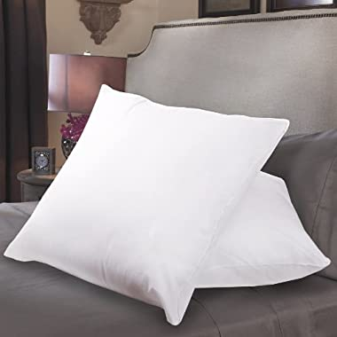 Sweet Home Collection Down Alternative Polyester Square Euro Pillow Insert (Pack of 2), 26 x 26