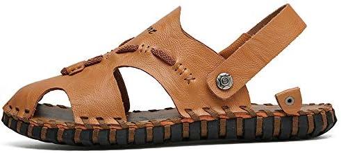 メンズサンダル メンズスポーツアウトドアサンダルビーチ夏用防水クイックドライ保護Toecapクローズドつま先 アウトドア防水靴 (Color : Brown, Size : 39)