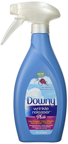 Fabric Finish (1 X Downy Wrinkle Releaser Plus, Light Fresh Scent, 16.9 Fl. Oz. New Trigger Spray Bottle, Wrinkle Remover + Odor Eliminator + Fabric Refresher + Static Remover + Ironing Aid, with New and Improved Sprayer for More Even Mist.)
