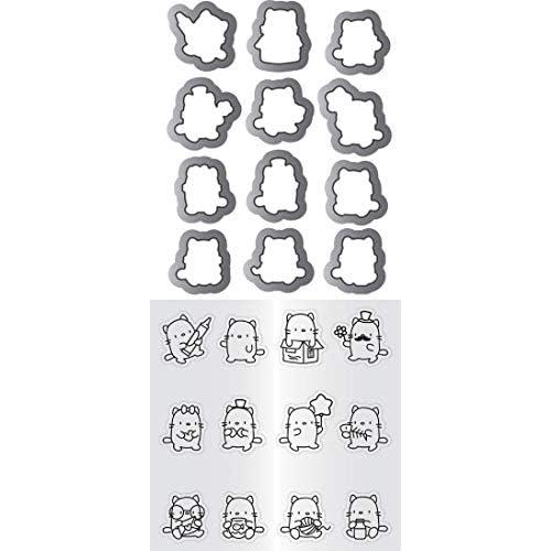 "Mama Elephant Clear Stamp & Die Set 4.125""X10.5""-Mini Cat Agenda"