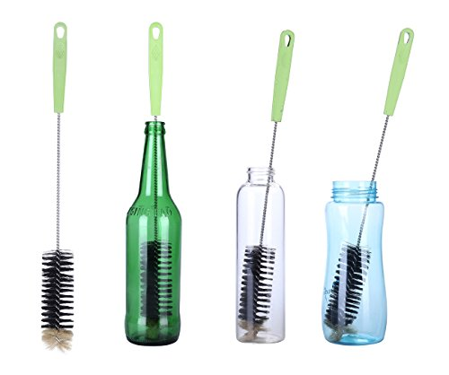 2PCS Long Bottle Brush Cleaner for Washing Narrow Neck Beer, Wine, Kombucha, Decanter, Narrow Neck Brewing Bottles, Water Bottles, S'Well, Glass Jugs and Long Narrow Neck Sport Bottles (2pcs)