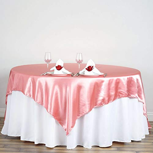 Mikash Square Satin Table Overlays Wedding Catering Event Dinner Supply Decorations | Model WDDNGDCRTN - 5740 | 20 pcs / 7272 ()
