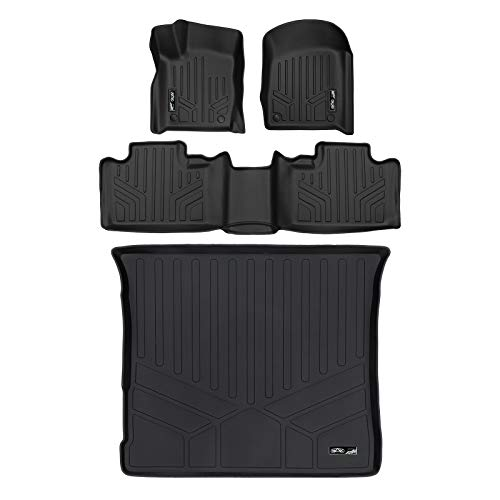 SMARTLINER Custom Fit Floor Mats 2 Rows and Cargo Liner Set Black for 2016-2019 Jeep Grand Cherokee