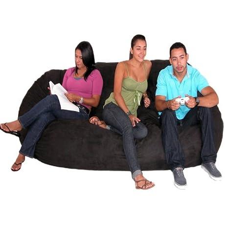 Cozy Sack 8 Feet Bean Bag Chair X Large Black
