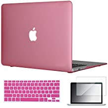 "Easygoby 3in1 Matte Frosted Silky-Smooth Soft-Touch Hard Shell Case Cover for 13-inch MacBook Air 13.3"" (Model:A1369 / A1466) + Keyboard Cover + Screen Protector - Pink"