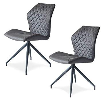 Damiware Rocky Esszimmerstuhle 2er Set Design Stuhl Mit Stoffbezug