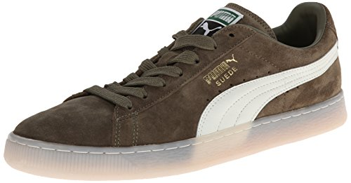 - PUMA Suede Classic Leather Formstrip Sneaker,Burnt Olive,8 M US