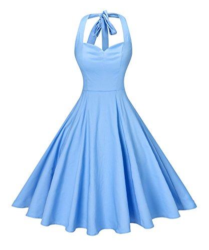 Buy light blue 50s dress - 7