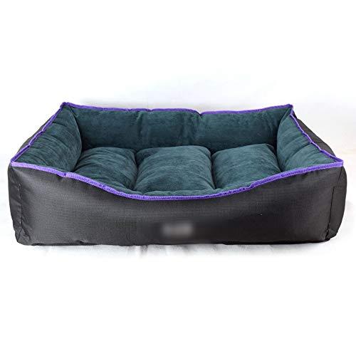 - Hyue Kennel Cat Litter Pet Supplies Quadruplet Seasons Foursquare Pet Pad Removable and Washable (Color : Green, Size : S)