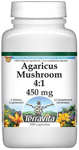 Agaricus Mushroom 4:1-450 mg (100 Capsules, ZIN: 520867)