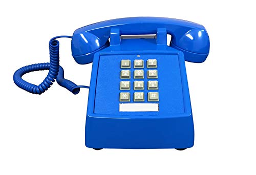 Corded Desk Telephone Blue Color - Itt Corded Telephone