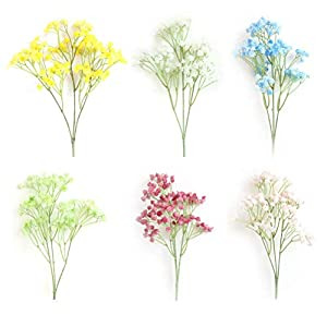 Vosarea Babys Breath Road Lead Flower Artificial Flower Bouquet for Wedding Home Decor 9