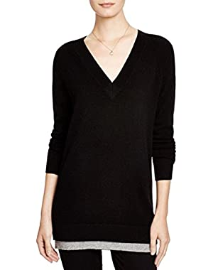 Theory Womens Delrina Cashmere V Neck Pullover Sweater