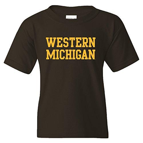 YS01 - Western Michigan Broncos Basic Block Youth T-Shirt - Small - (Western Michigan University Football)
