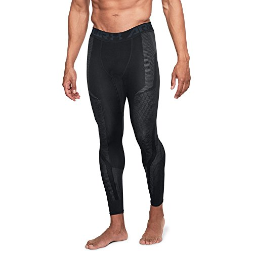 (Under Armour Mens Threadborne Seamless Legging, Black/Stealth Gray, Large)