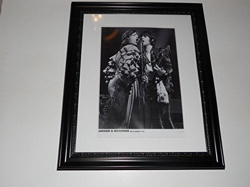 Large Framed Mick Jagger / Keith Richards 1976 Germany Rolling Stones 24