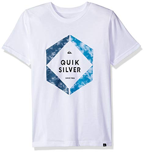 - Quiksilver Boys Hexa Logo TEE, White M/12