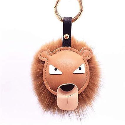 Amazon.com: LanDream Llavero de león de peluche suave ...