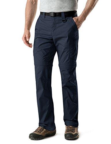 - CQR CQ-TXP402-NVY_32W/30L Men's Convertible Pants Zipp Off Stretch Durable UPF 50+ Quick Dry Cargo Shorts Trousers TXP402