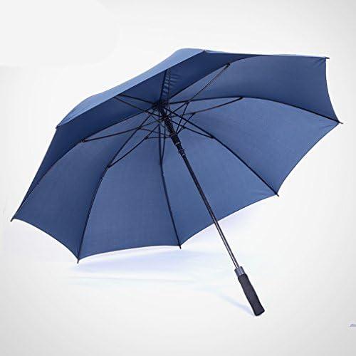 GR5AS 特大ロングハンドルの傘大人二重層風の抵抗自動傘三人サニー雨デュアル傘 (Color : C)