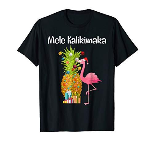 Mele Kalikimaka Pineapple Flamingo Halloween Gift T Shirt