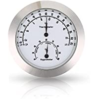 Thermometer Hygrometer, Temperature Humidity Monitor for Indoor Outdoor Instruments (Silver)