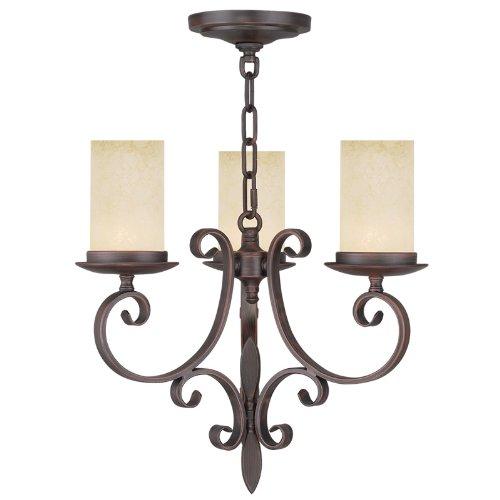 - Livex Lighting 5483-58 Millburn Manor 3 Light Mini Chandelier, Imperial Bronze