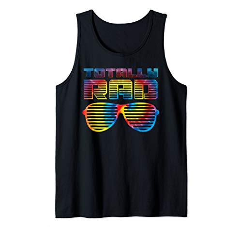 Funny 80's Totally Rad Art | Tie Dye 1980's Lovers Gift Tank Top ()