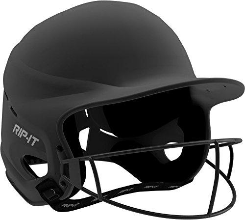 Rip-It Vision Pro Matte Softball Batting Helmet (Matte Black, (Girl Black Helmet)