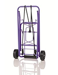 Travel Smart by Conair 80 lb. Folding Multi-Use Cart; Purple