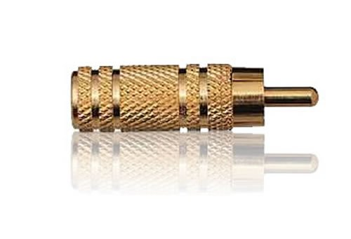 3.5 mm Mono Socket to Phono Plug Gold Plated