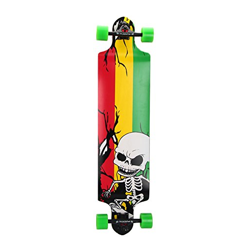 PUENTE Pro Drop Through Complete Longboard 41 Inch (Yellow &Green)