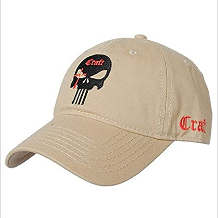 Qqyz Cotton Baseball Cap Tactical Army Cap Punisher American Sniper Baseball Cap One Size Beige Amazon Co Uk Sports Outdoors