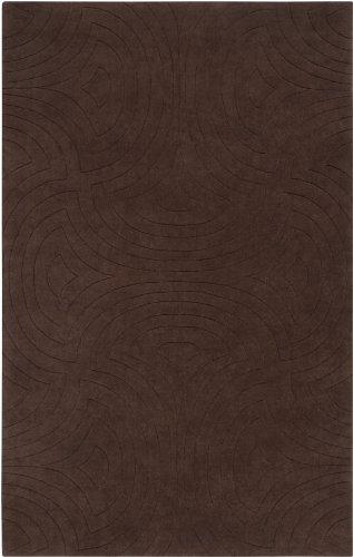CC Home Furnishings 9' x 13' Bas-Relief Maze Brown Wool Area Throw Rug